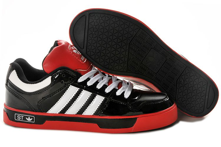 New White Red Black Custom Men Adidas Ledge Low ST Shoes at high discount