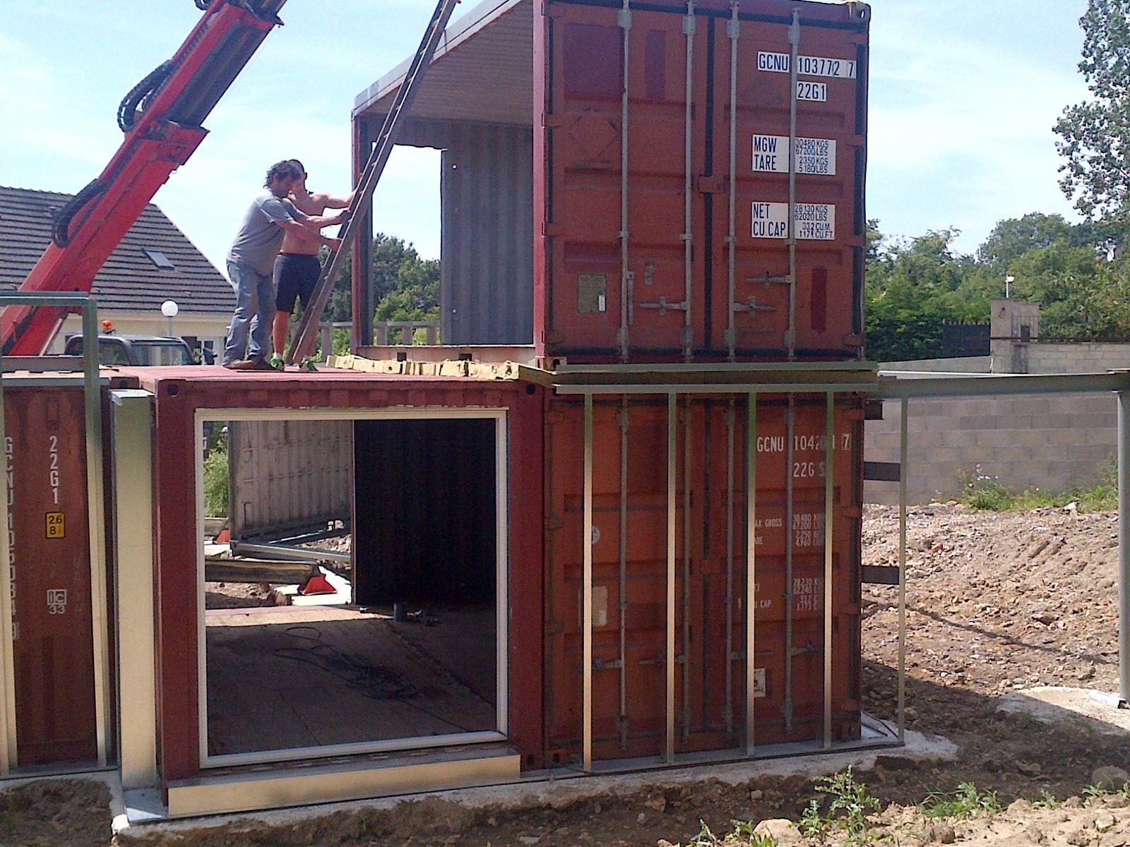 Deuxième jour : arrivée des 4 derniers containers