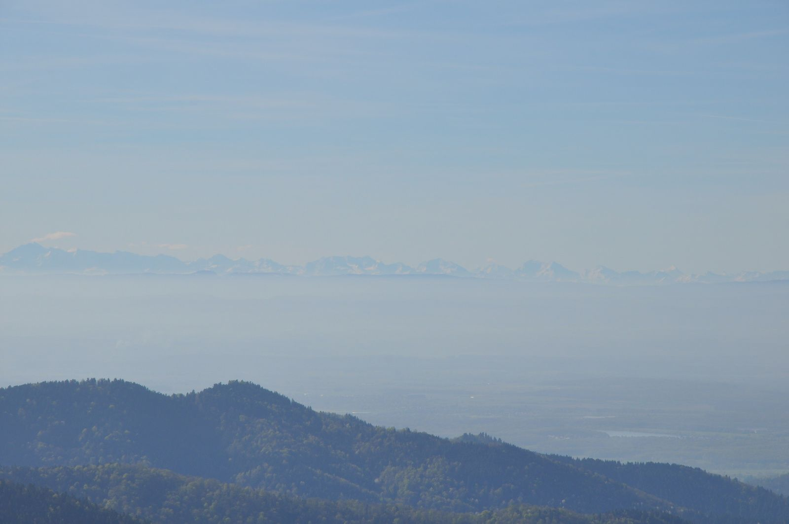 Vues sur les Alpes.