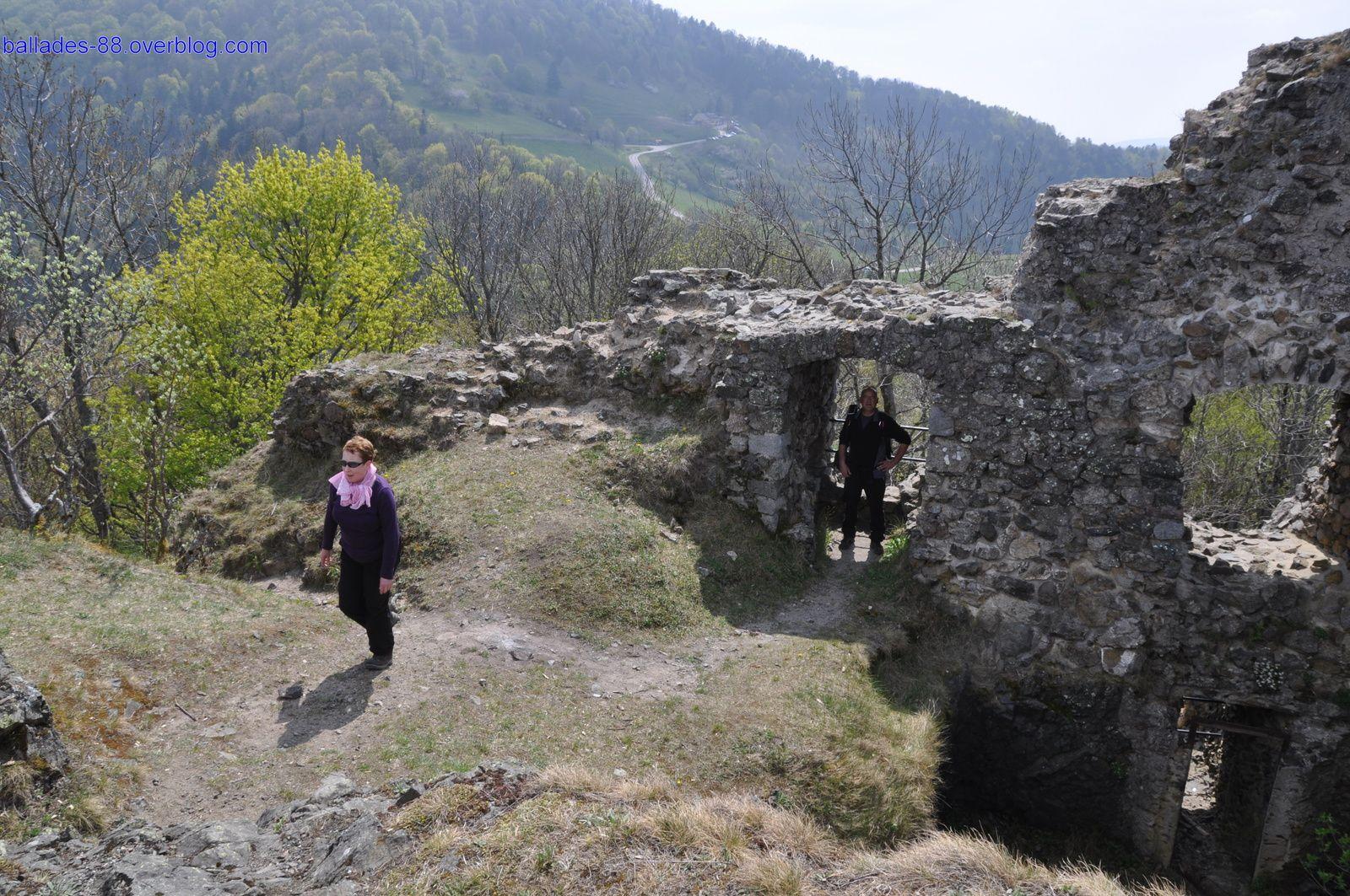 Châteaux en ruine du Freundstein.