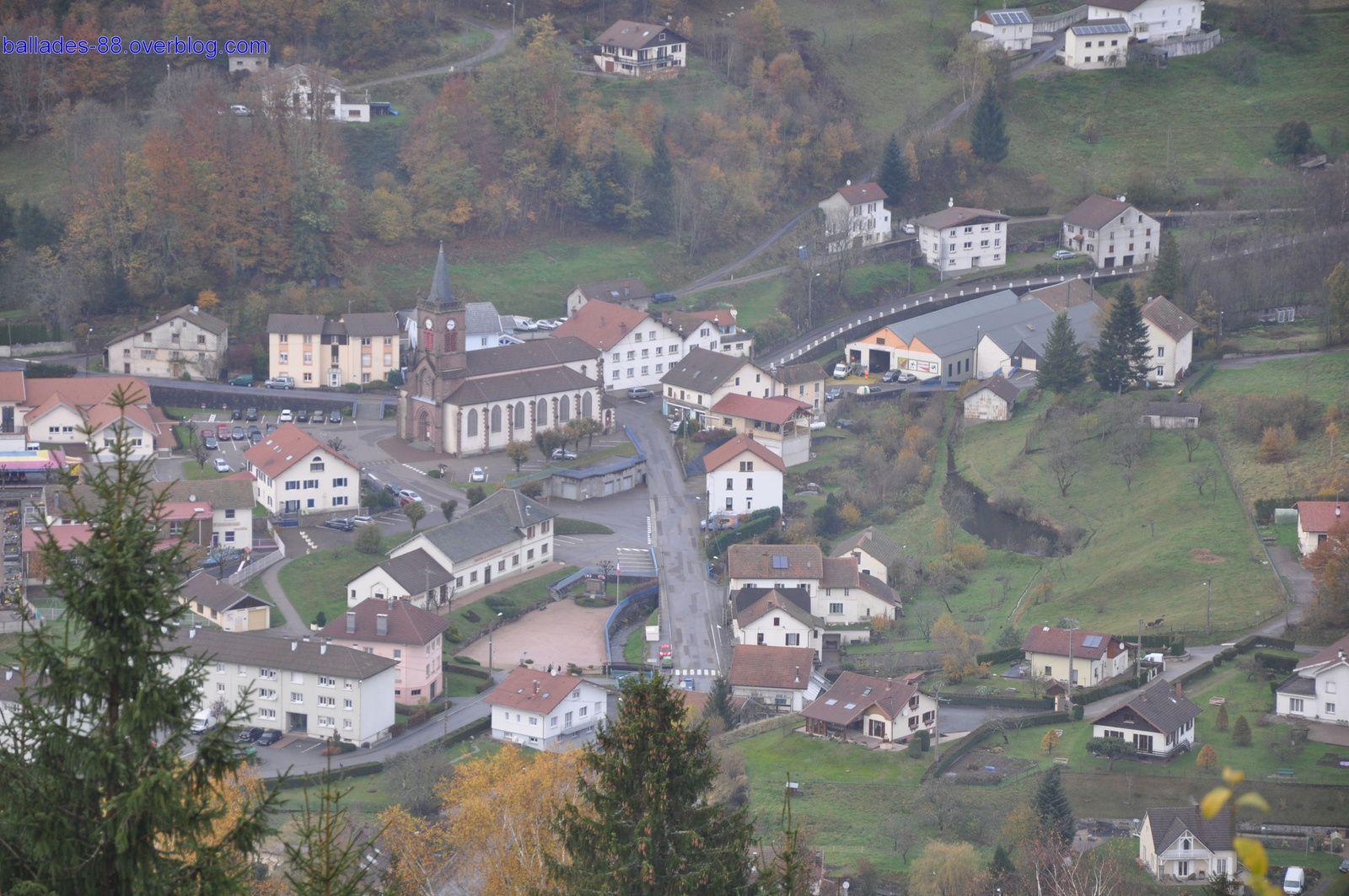 Centre de Fresse sur Moselle depuis la croix de Couard.