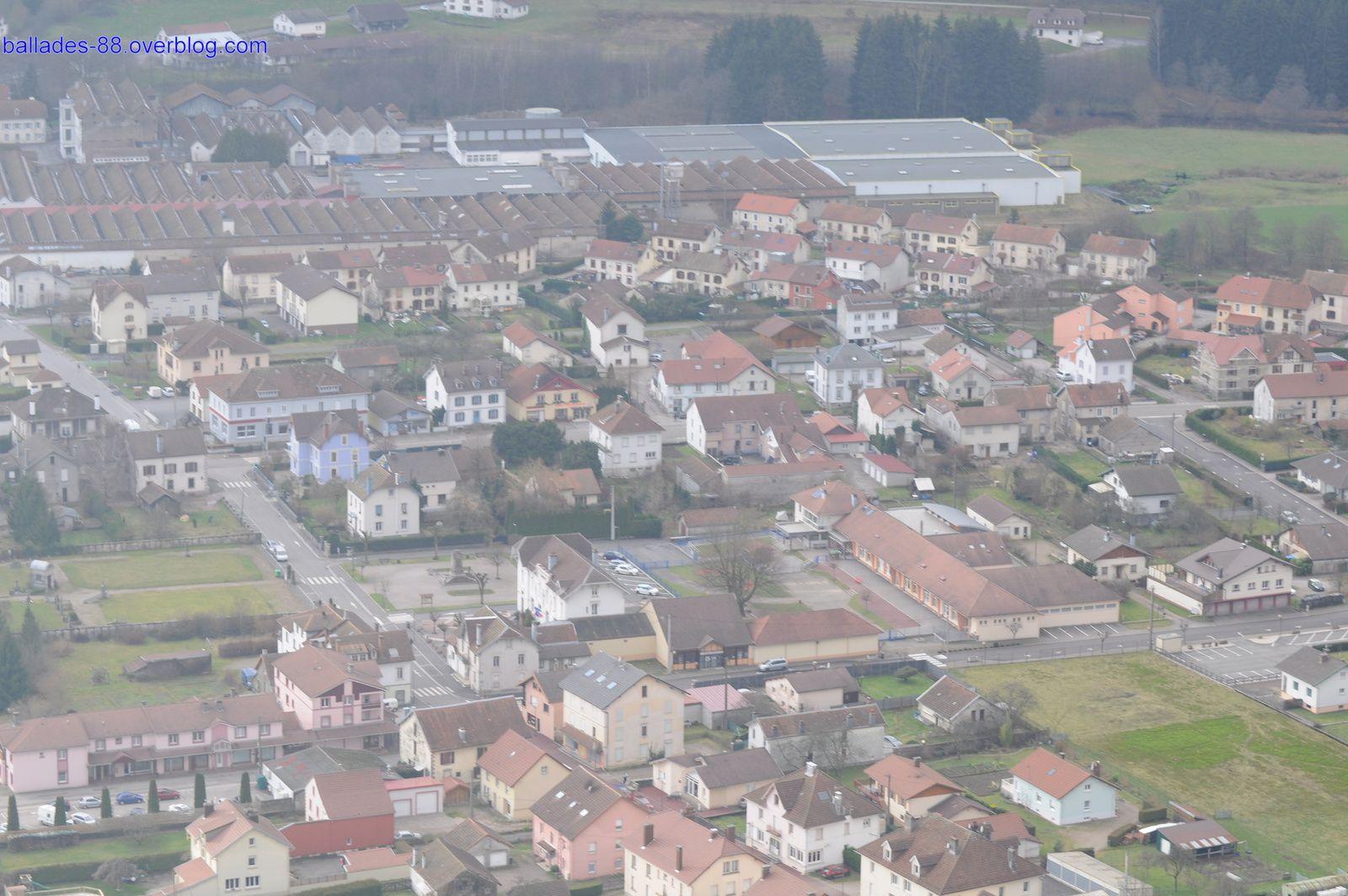 Vues sur Rupt sur Moselle depuis la Croix Parrier.