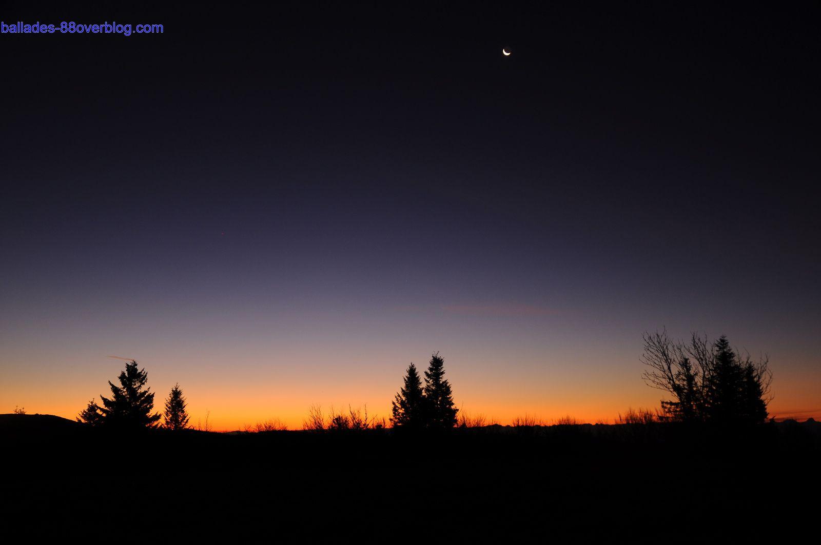 Crépuscule au ballon de Servance 08 novembre 2015