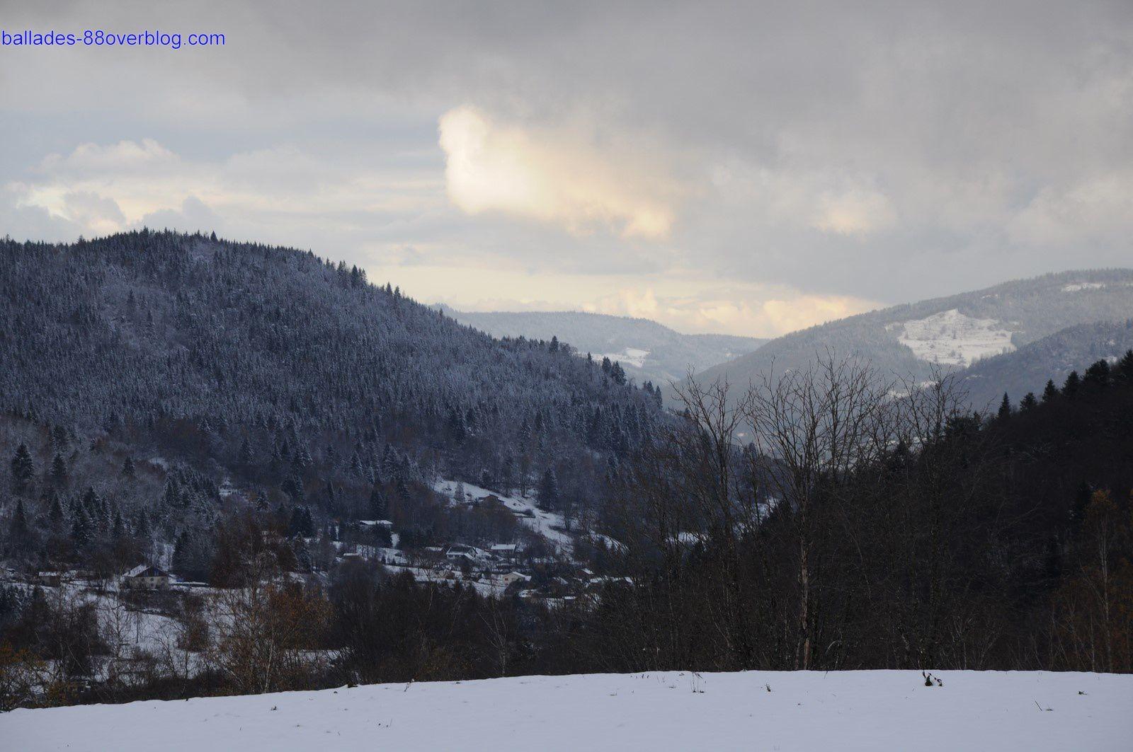 Première neige sur les Vosges 22/11/2015