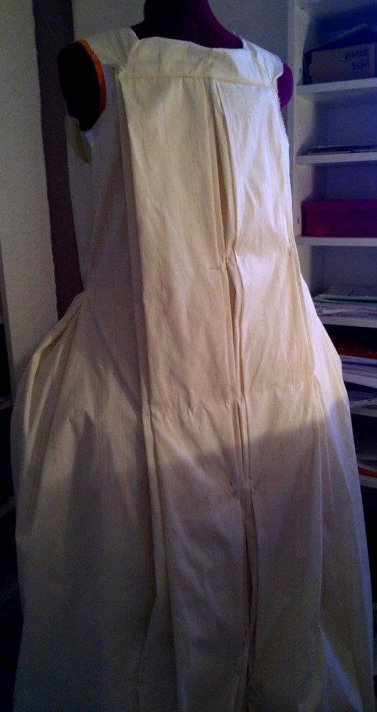 Robe Française montée 18th 1745-50 1essai