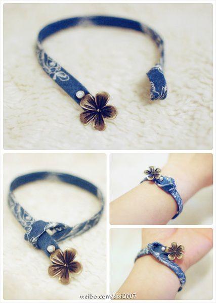 fresh fabric handmade bracelet