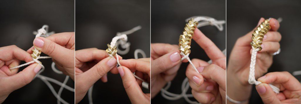 DIY hex nut braided bracelet