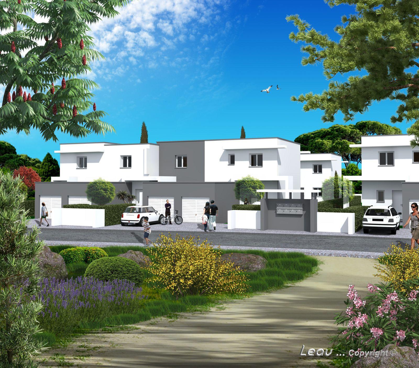 groupement de 16 logements au grau d 39 agde l c style quelques travaux. Black Bedroom Furniture Sets. Home Design Ideas