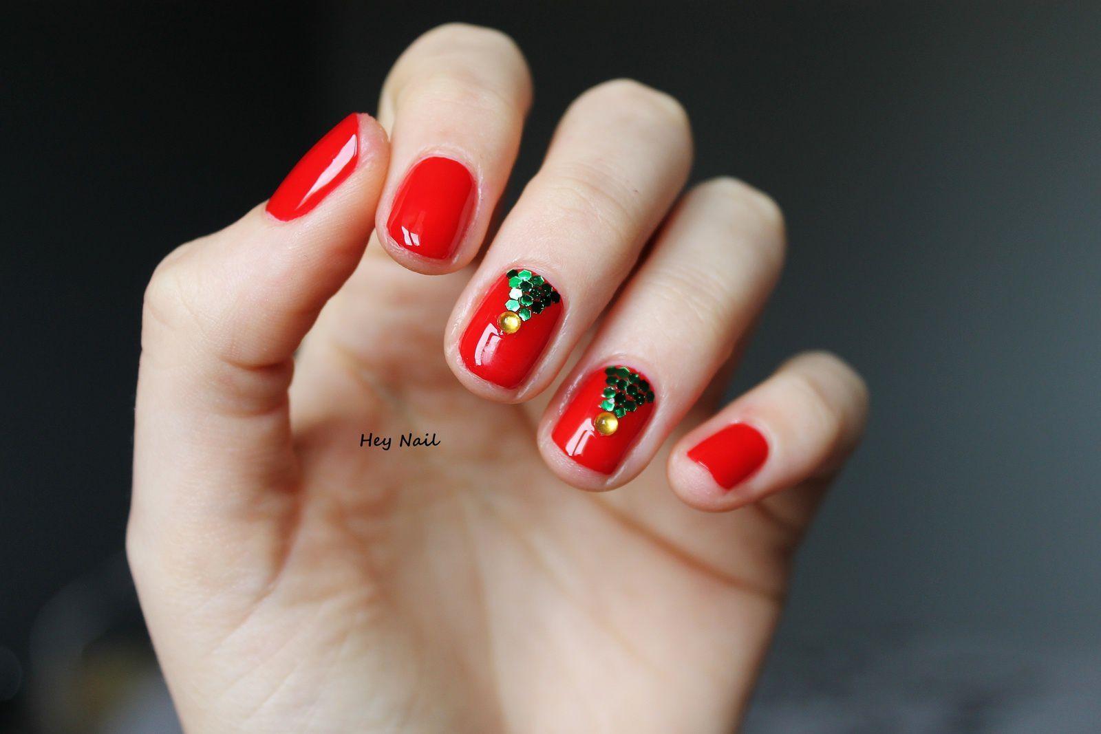 Nail Art Sapins Brillants