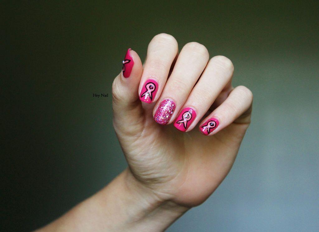 Nail Art Octobre Rose #2