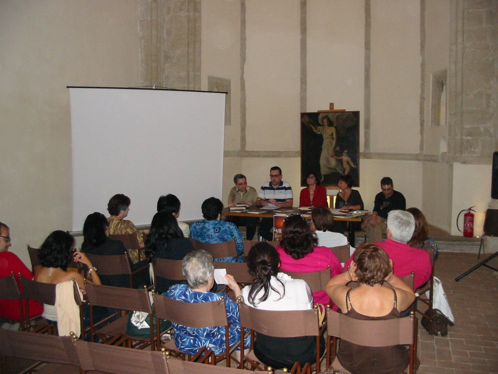 Da sinistra Emanuele Marcuccio, Lorenzo Spurio, Monica Fantaci, Pierangela Castagnetta, Salvuccio Barravecchia