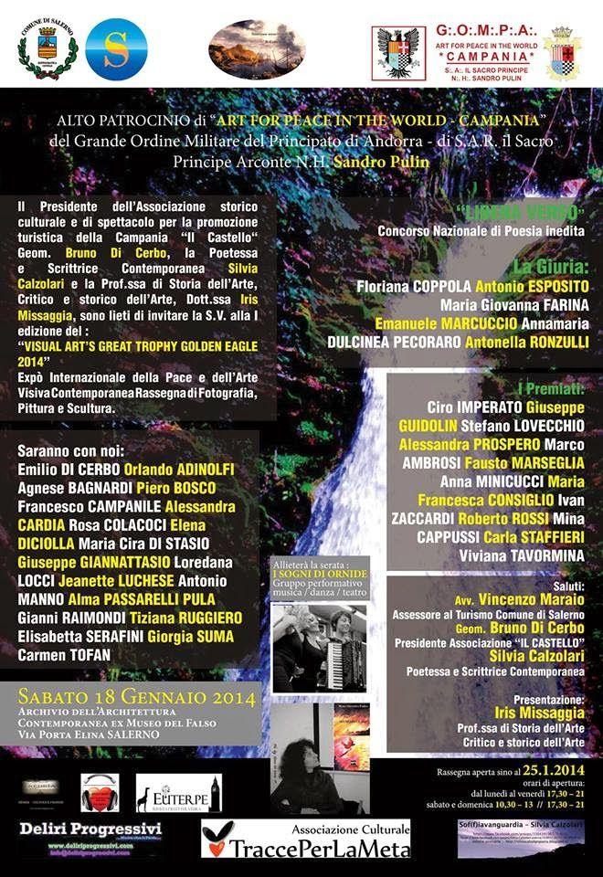 Si è tenuta a Salerno la premiazione del I Concorso Nazionale di Poesia Inedita &quot&#x3B;Libera Verso&quot&#x3B;: sabato 18 gennaio 2014