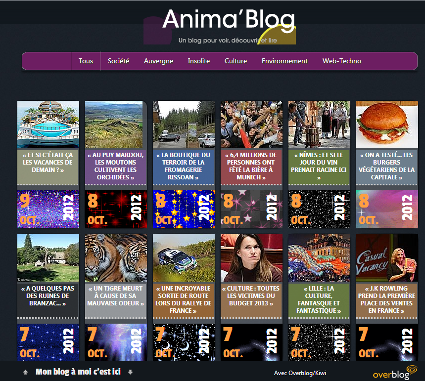 Téléchargez le Thème Anima'Blog version &quot&#x3B;dark&quot&#x3B; et &quot&#x3B;bright&quot&#x3B; pour Overblog/Kiwi