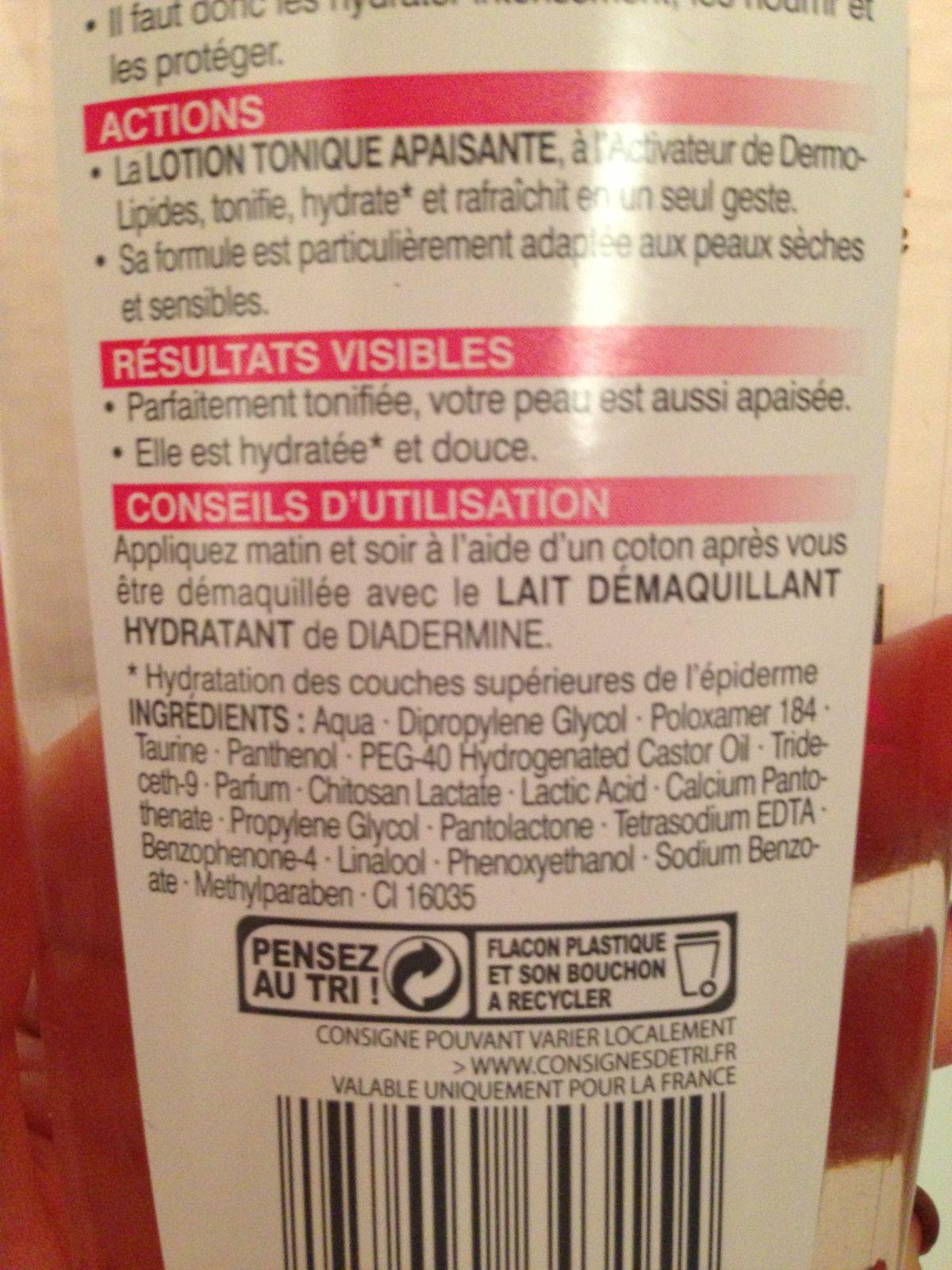 Lotion tonique apaisante de Diadermine