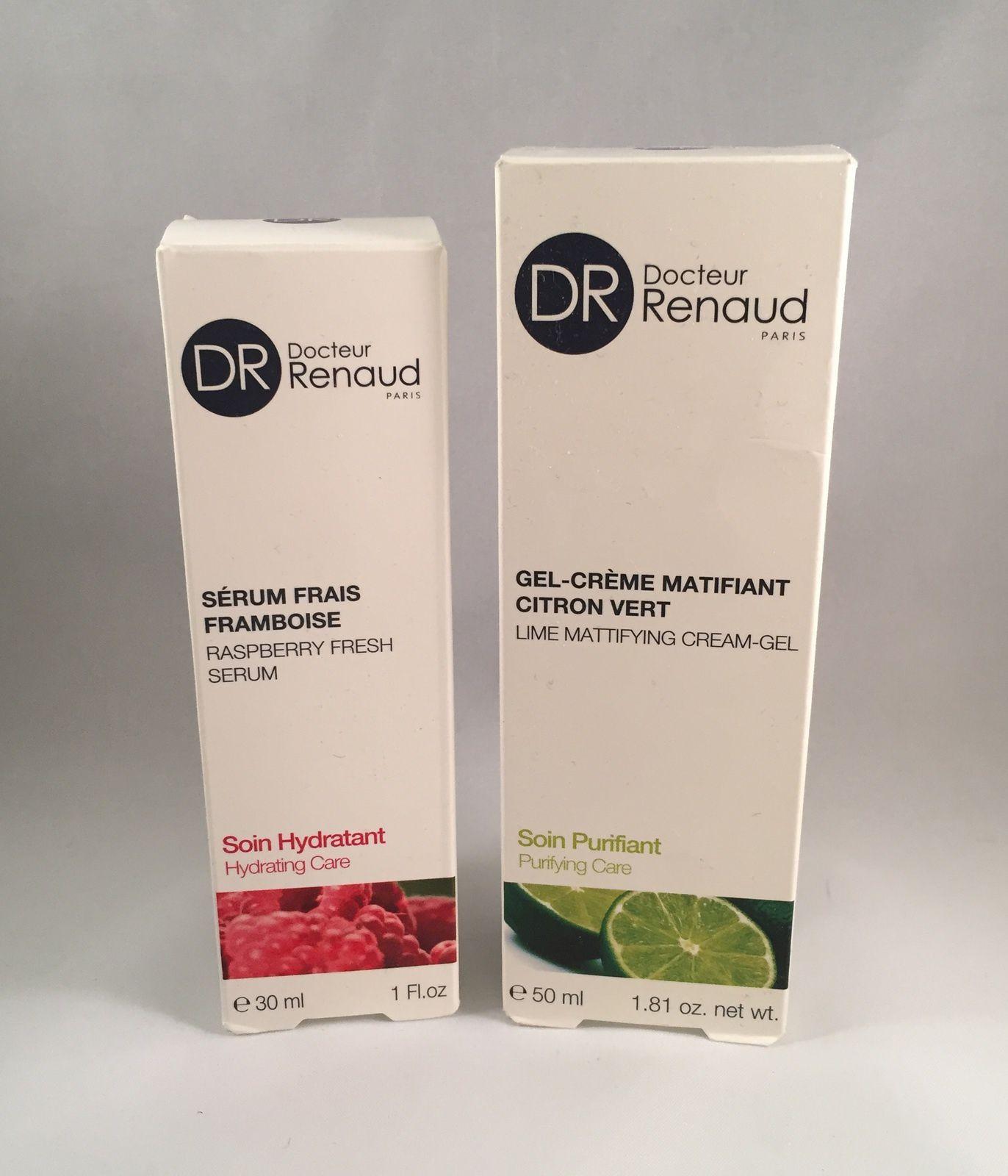 Dr Renaud - sérum frais framboise &amp&#x3B; gel crème matifiant citron vert
