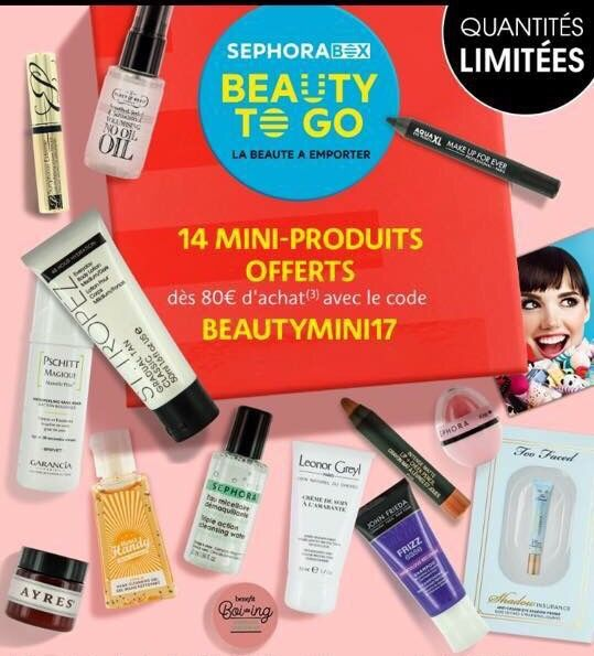 Nouvelle Sephora box Beauty to go : go go go