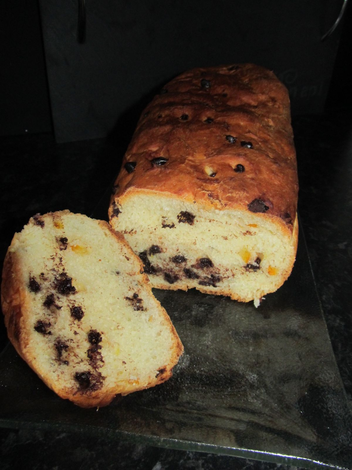 Pain de mie à l'orange et au chocolat