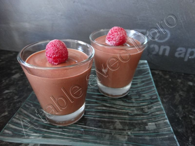 Verrine chocolat framboise a table avec doro for A table avec thermomix