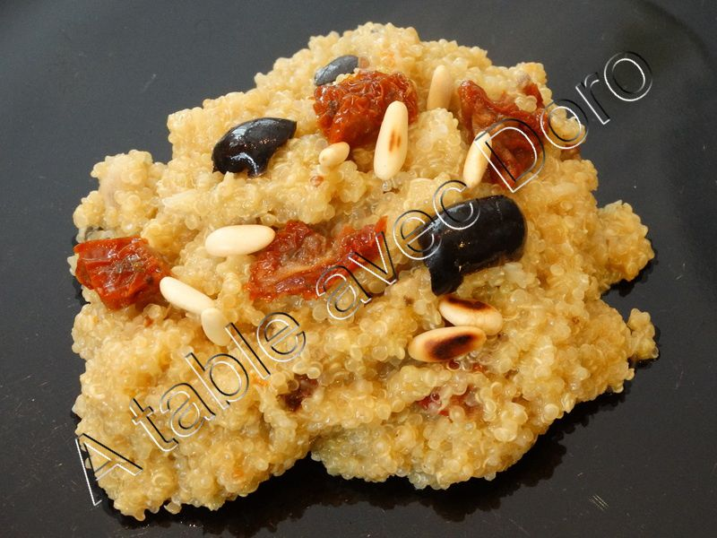Risotto de quinoa à la provençale