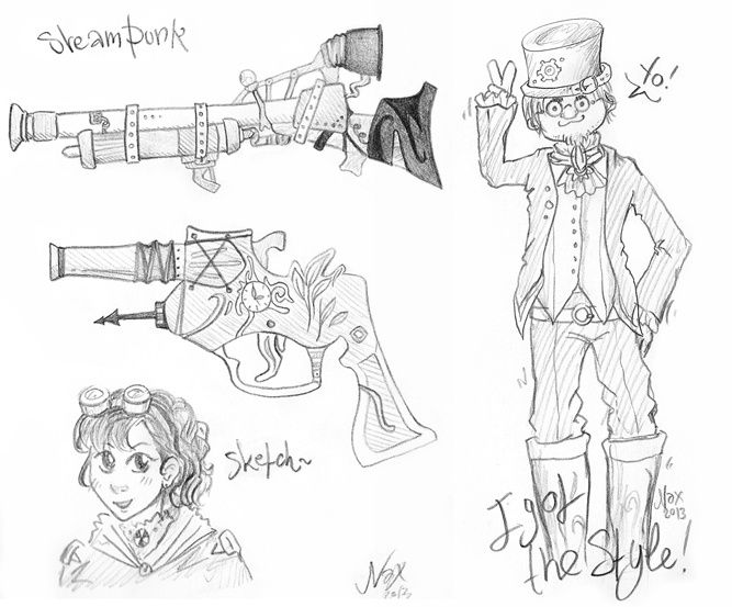 Nax Steam punk sketches
