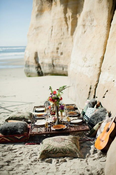 Beach Picnic, Torrey Pines en Californie