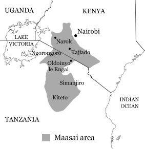 Maasai land Map of Kenya and Tanzania