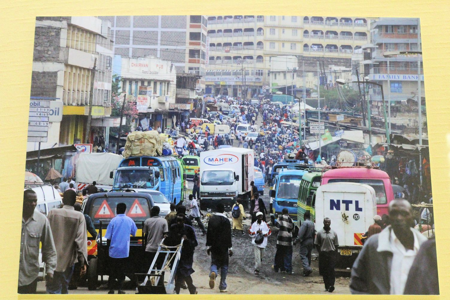 Photo of the center of Nairobi, where foreighners are not allowed for security reasons