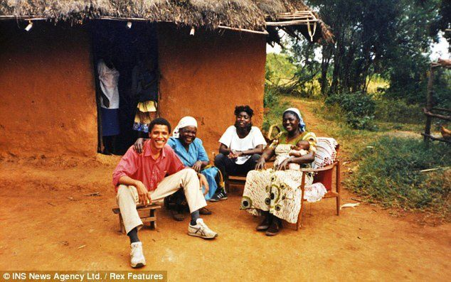 Barack during his visit to Kenya