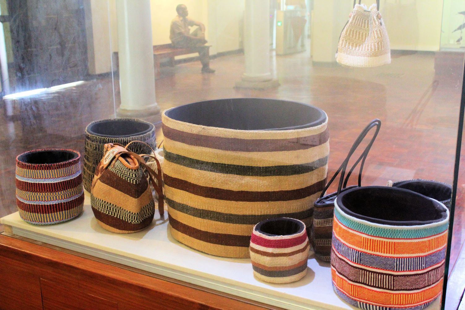 Traditional and modern basckets KIONDO, used for carrying goods