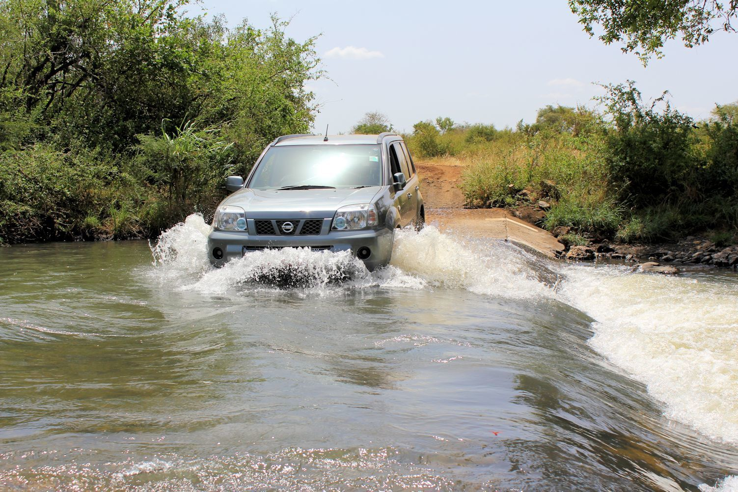 River crossing in Meru National Park