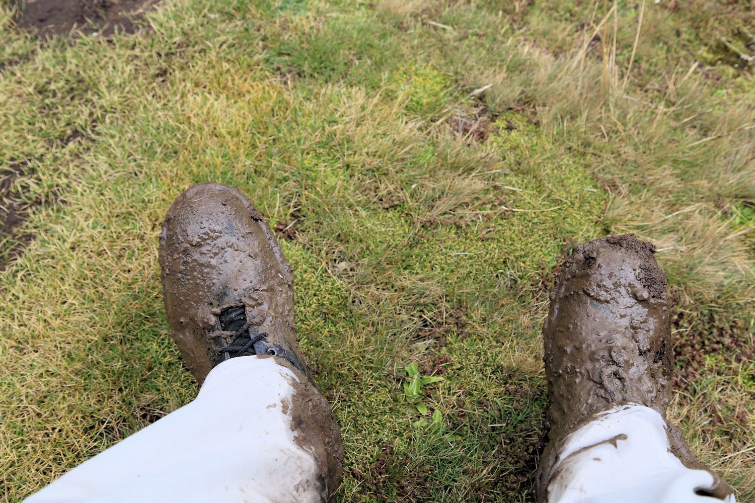 Here, I decided to be a smart-ass by not following Chris and took a shortcut..The end result was...muddy