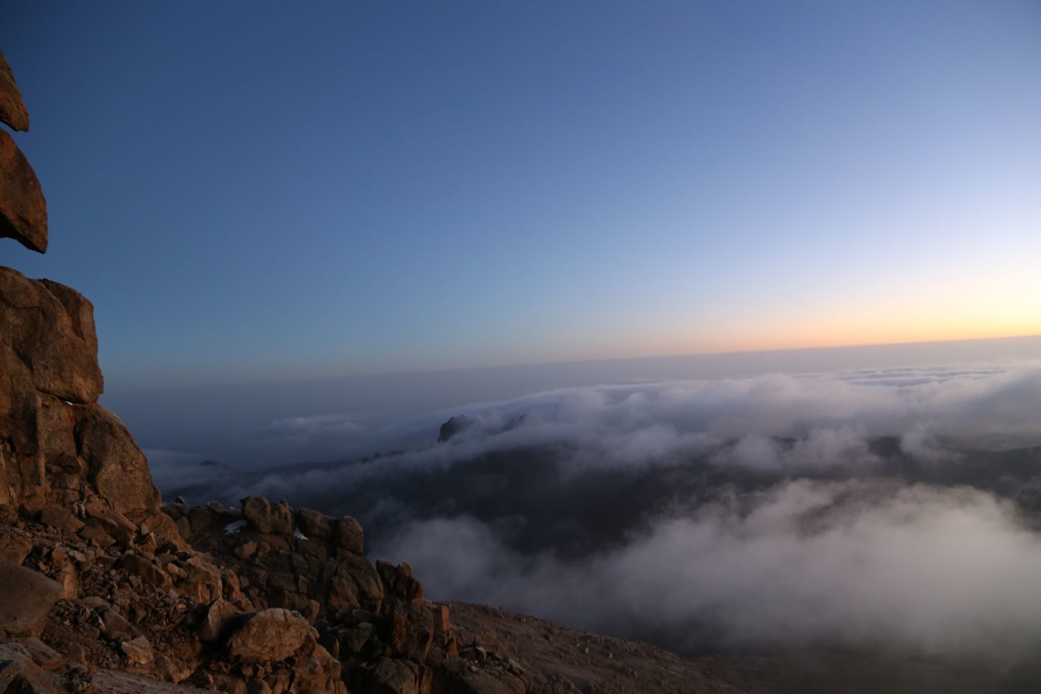Breath-taking sunrise at the top