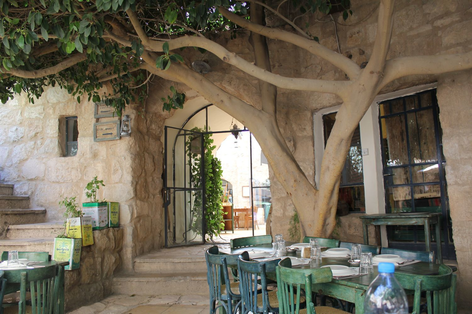 Enjoying DELICIOUS Arabic cuisine in on of the restaurants in Madaba town