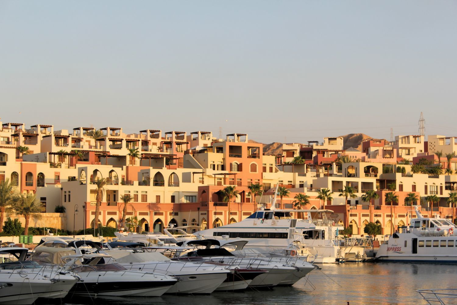 Beautiful Marina Town at sunset