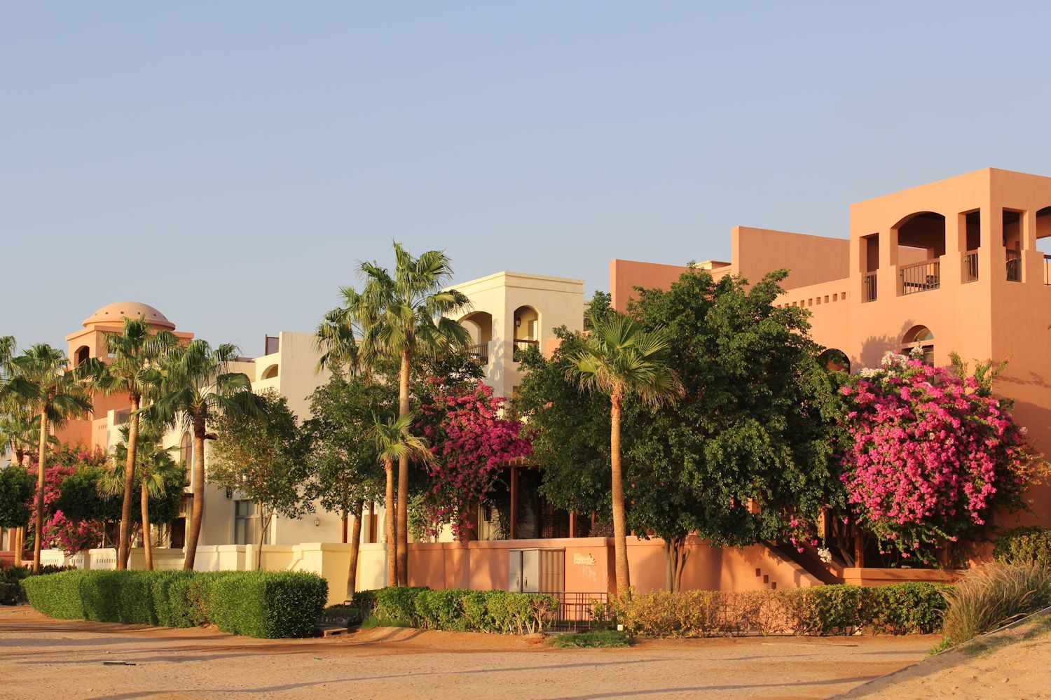 Beautiful private villas with manicured gardens overlooking Red Sea