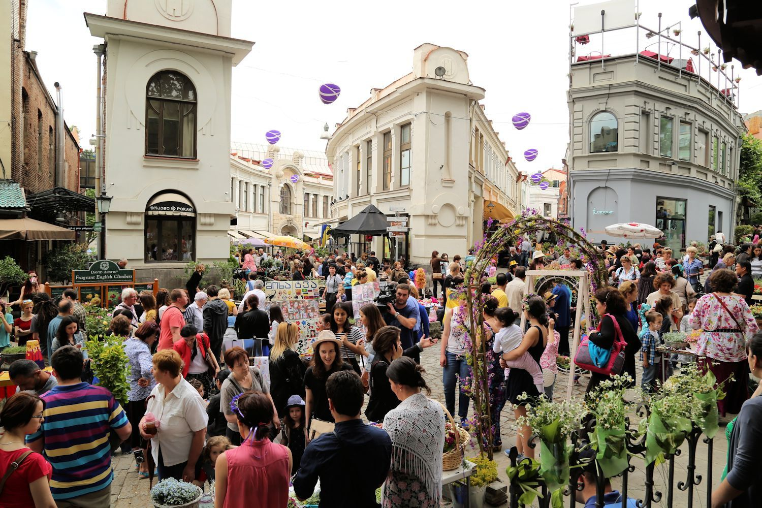 Crowds at the Flower Festival, Tbilisi