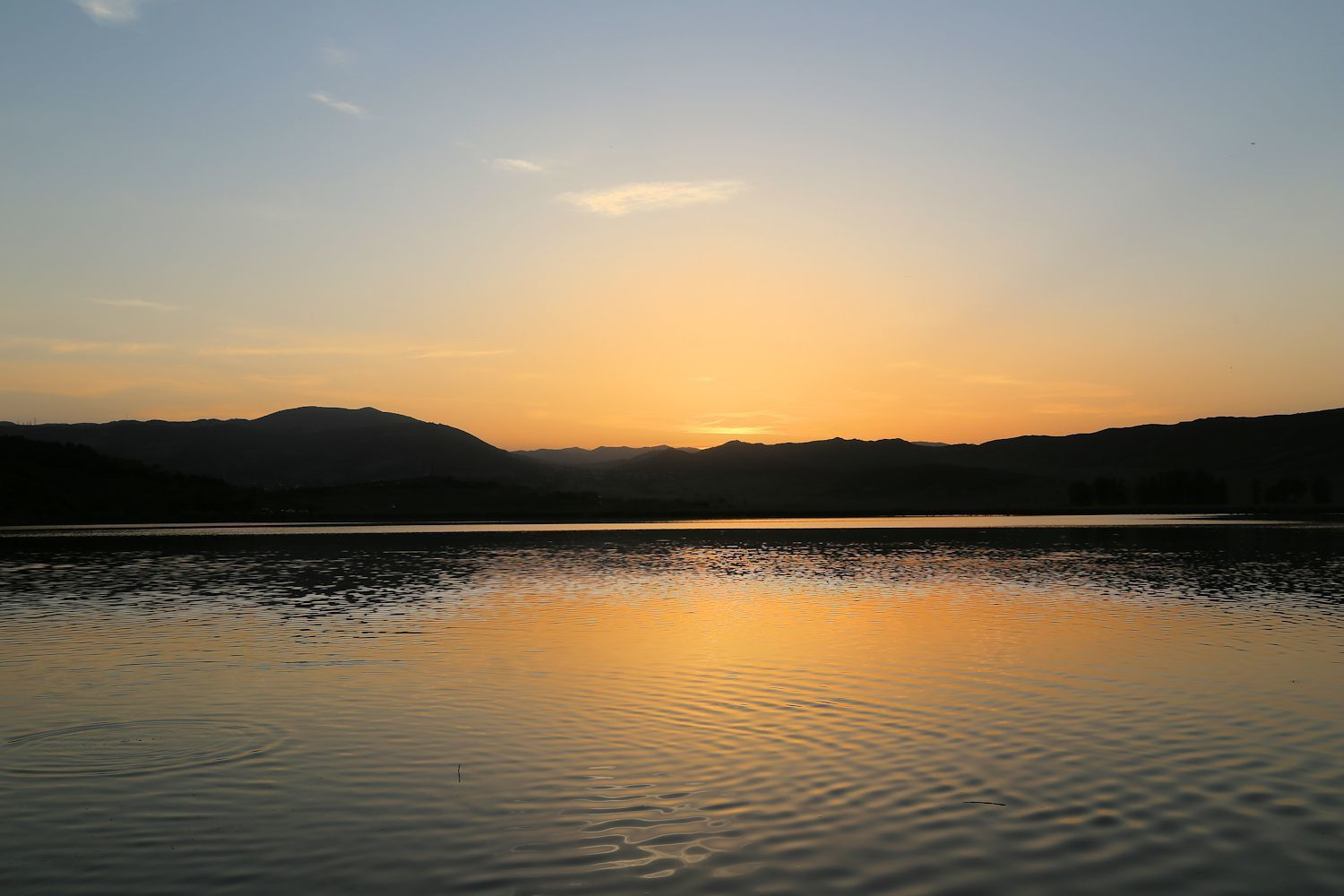 Sunset at Lisi lake
