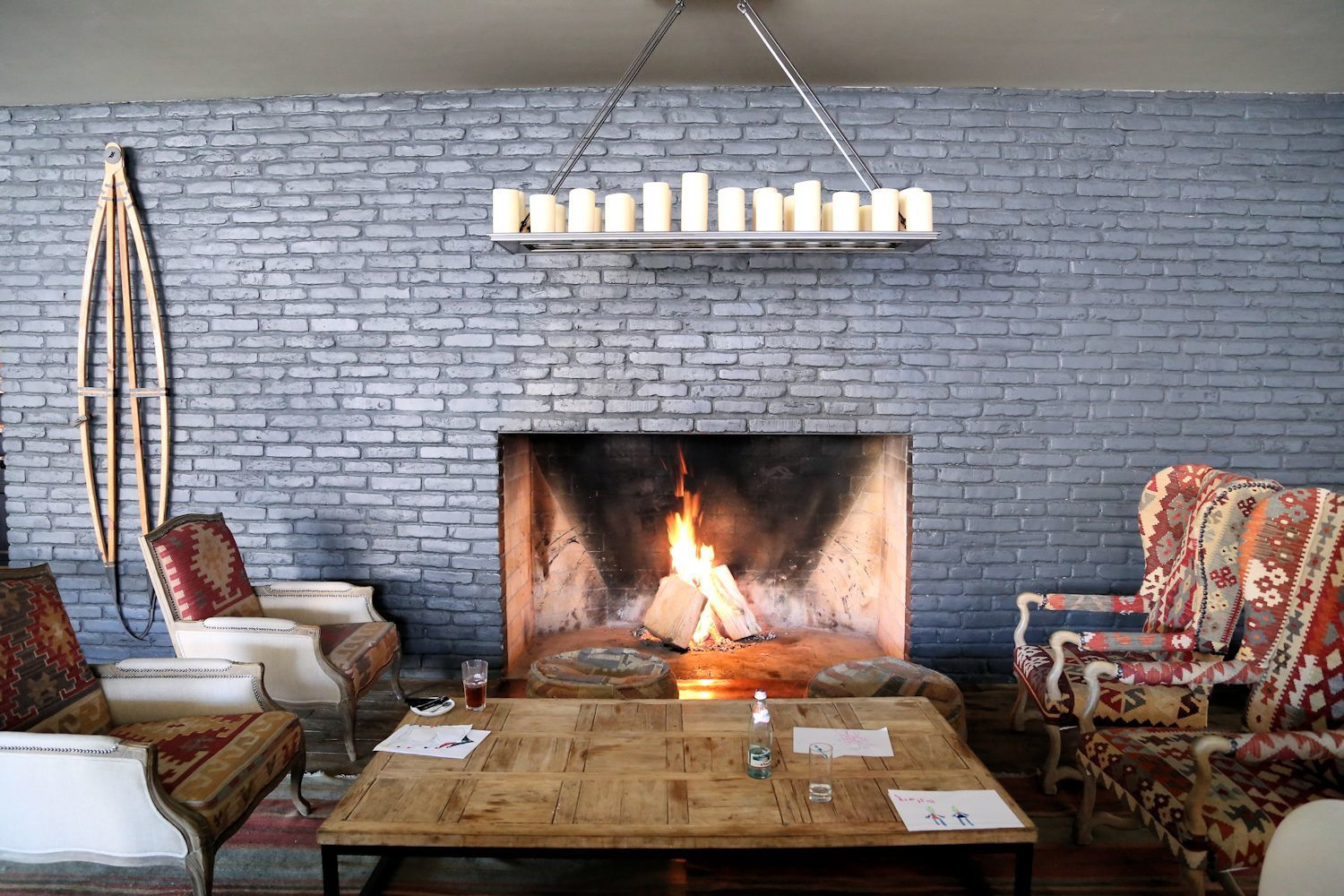 Fireplace in Kazbegi Rooms Hotel