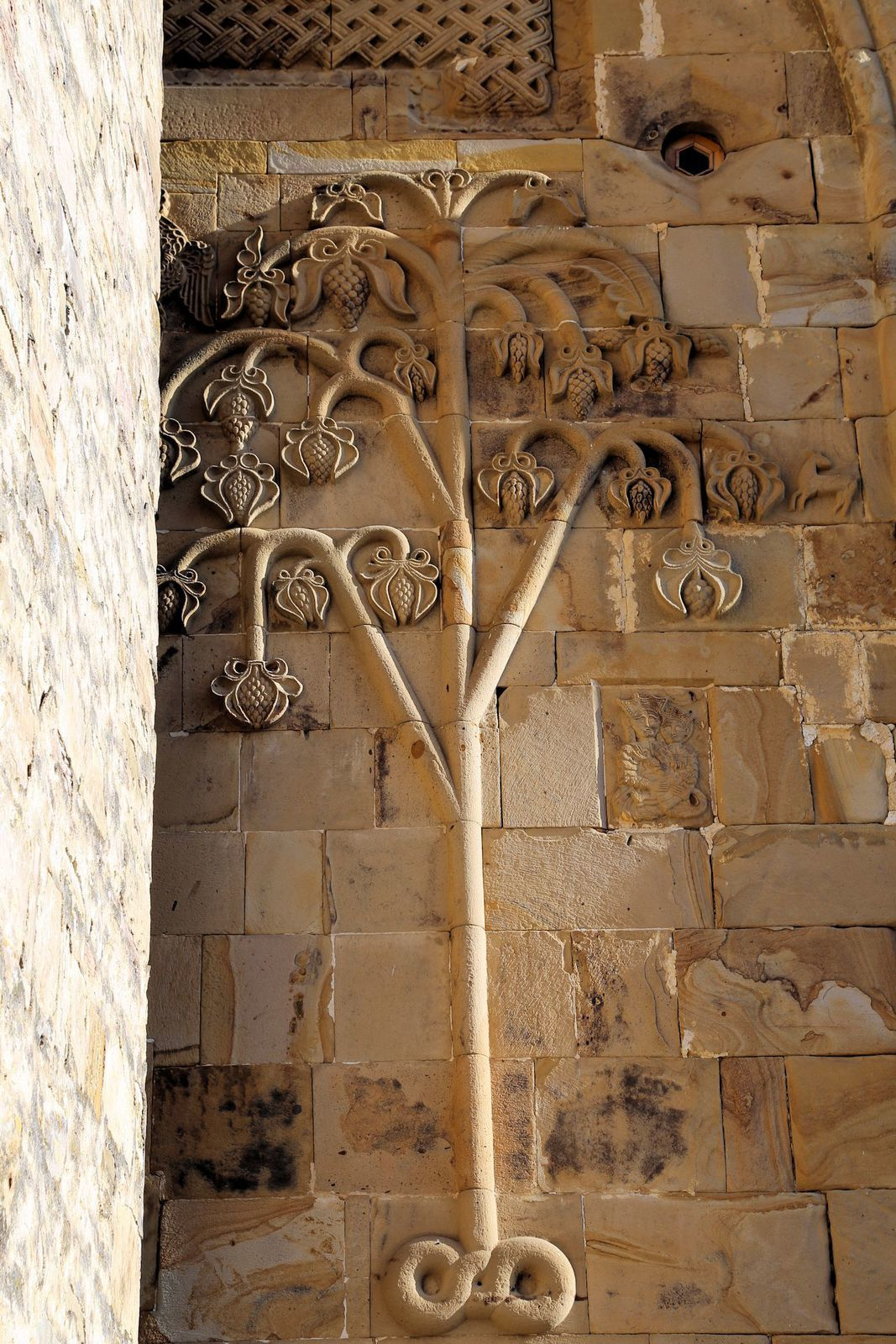Decorations on the outer walls of the Church of the Assumption