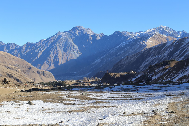 Mountain slopes in Gudauri