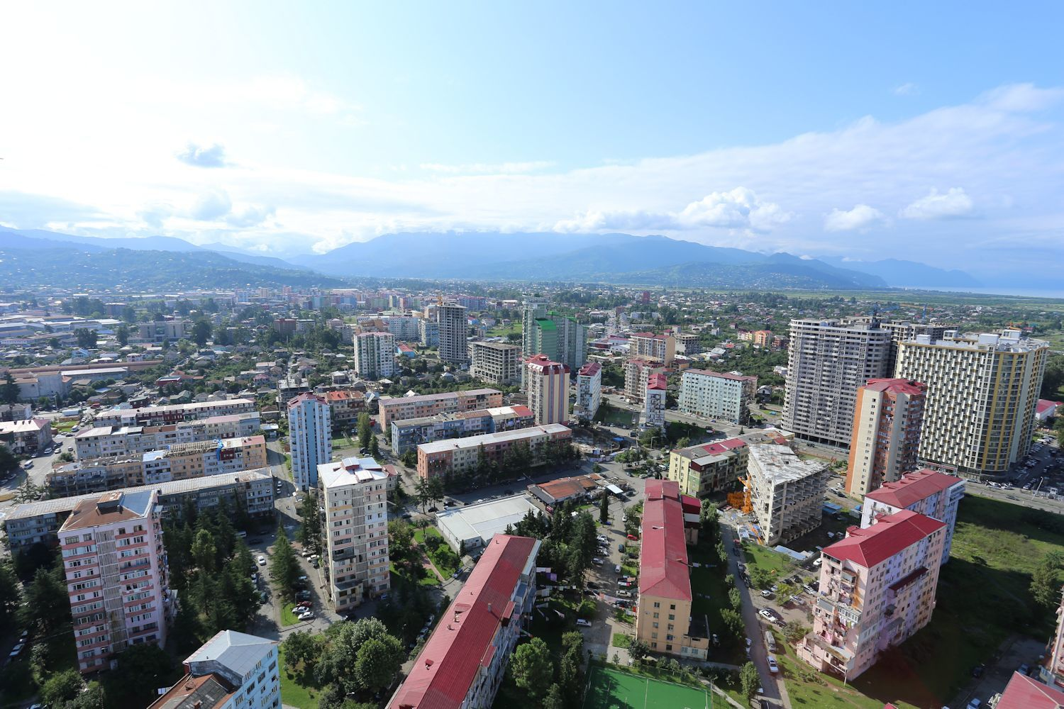 "Batumi view from the highest point of Sea Tower ""C"""