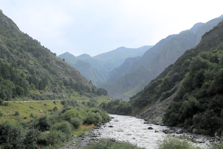 The Terek river at Darial gorge, Georgia