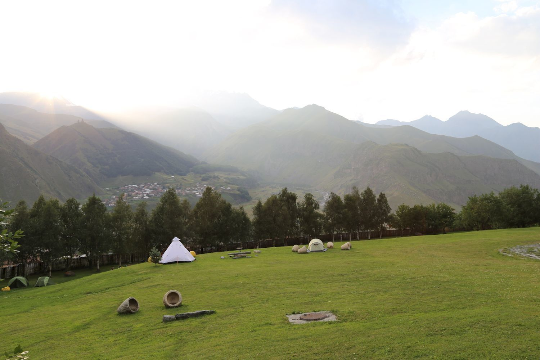 Camping in Kazbegi