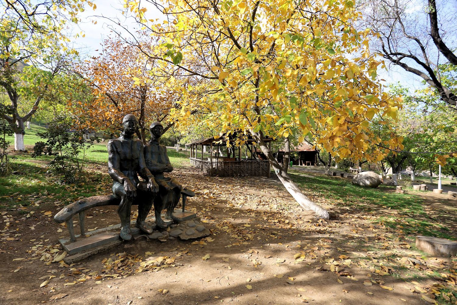 Tbilisi Open Air Museum of Ethnography in autumn