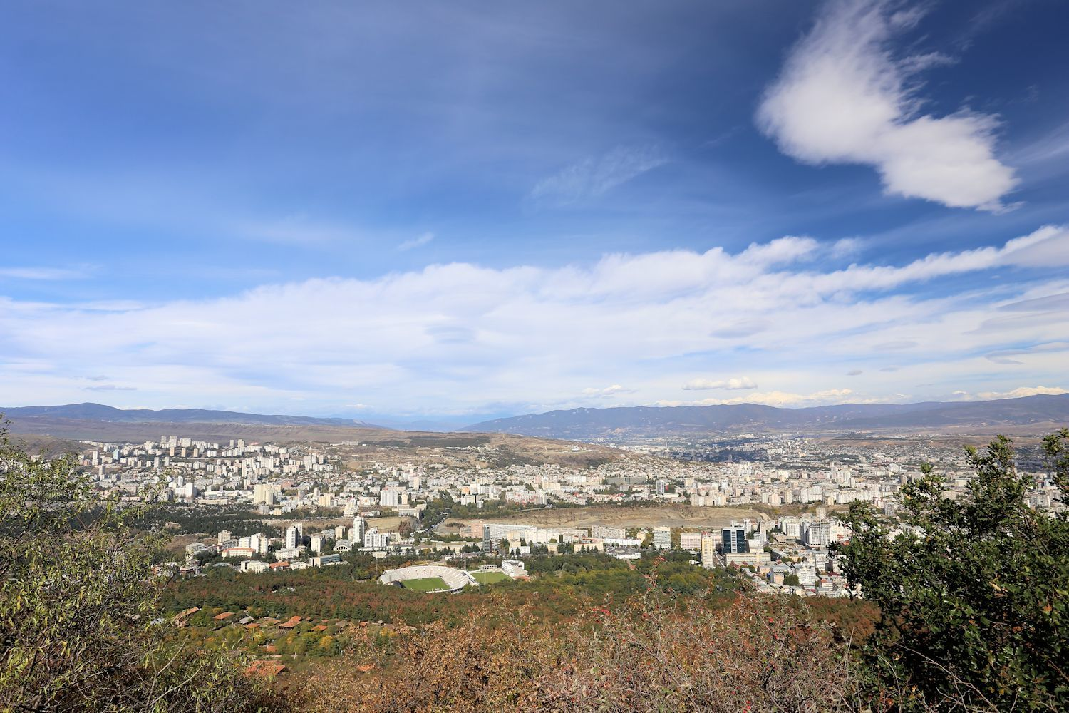 Beautiful Tbilisi view from Museum of Ethnography