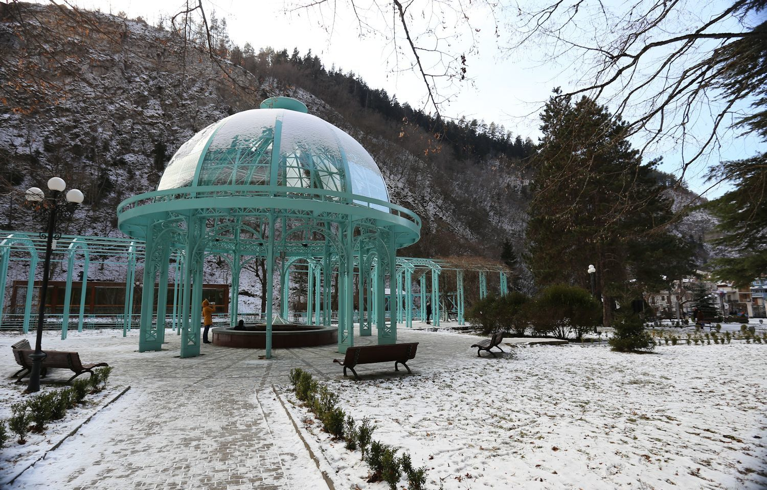 A walk in Borjomi city park