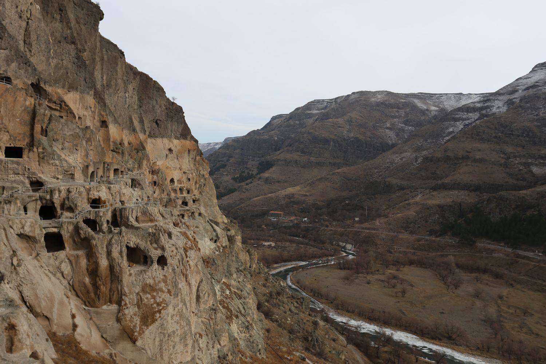 View to the apse and iconostasis in Vardzia