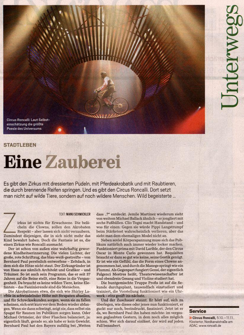 """""""Eine Zauberei"""" - Hamburger Abendblatt, 6.10.2012"""