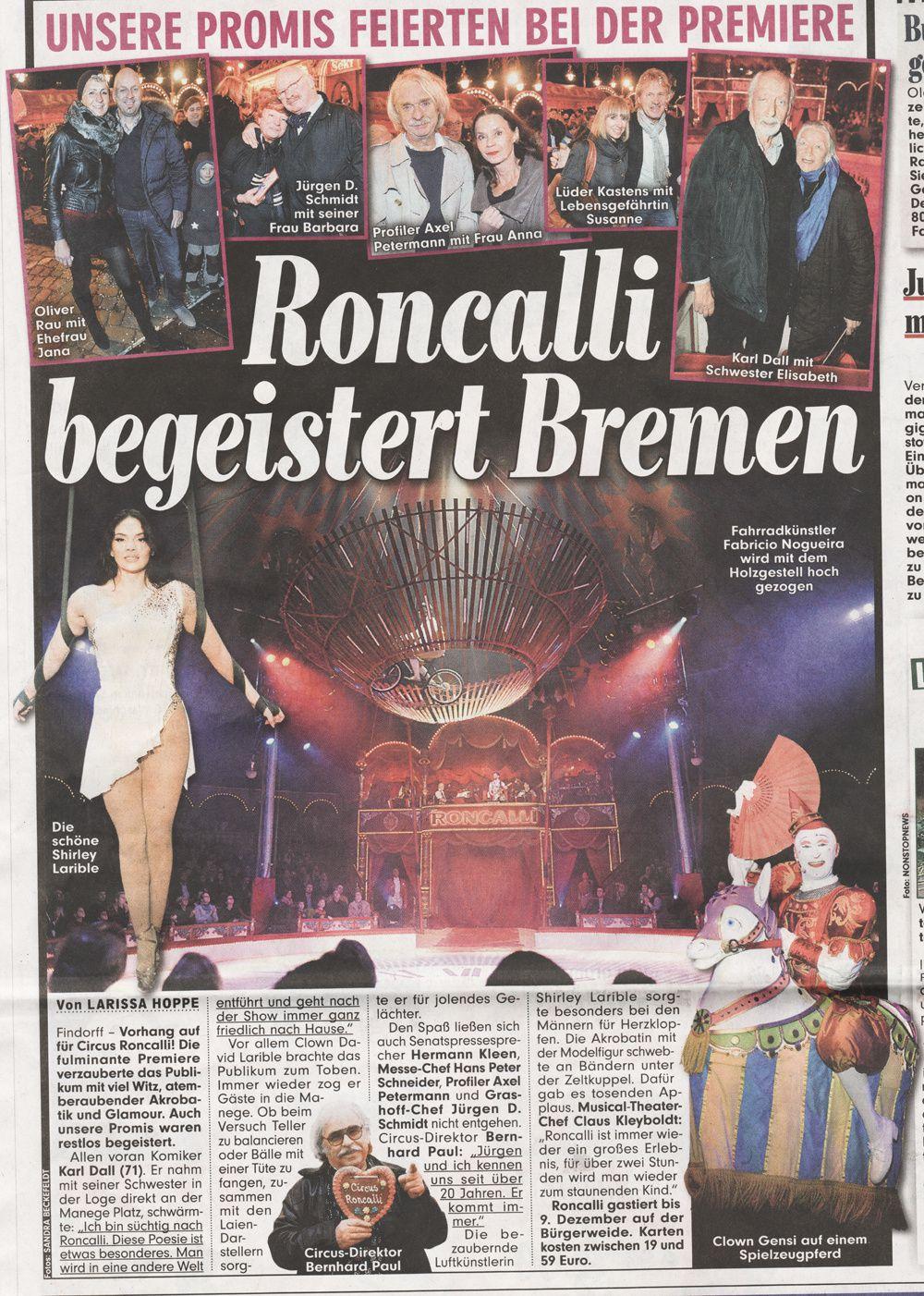 Roncalli begeistert Bremen