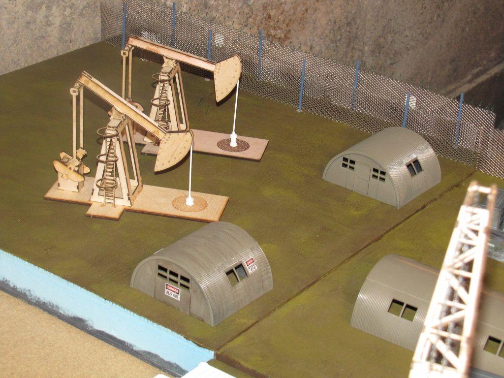 Les 2 stations de pompage et le stockage des explosifs